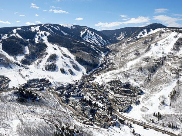 Aerial Views of Beaver Creek, Colorado.