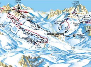 Cortina D Ampezzo Map Ski Portal